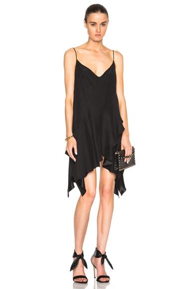Lover V Slip Dress in Black