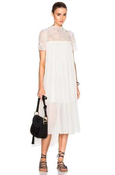 Lover Camelia Silk Maxi Dress in White