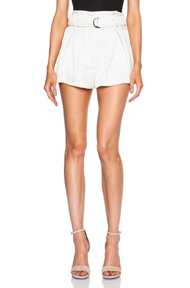 Lover Hero Wrap Shorts in Ivory