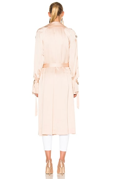 Anise Satin Trench