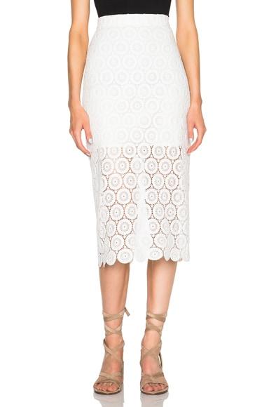 Lover Stellar Pencil Skirt in White
