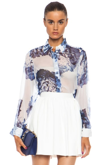 Full Bloom Floaty Silk Shirt