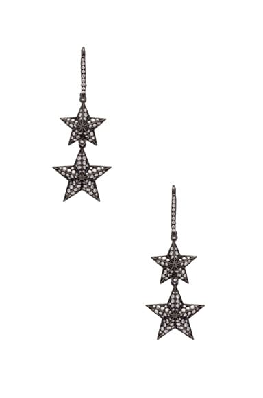 Double Pave Star Earrings
