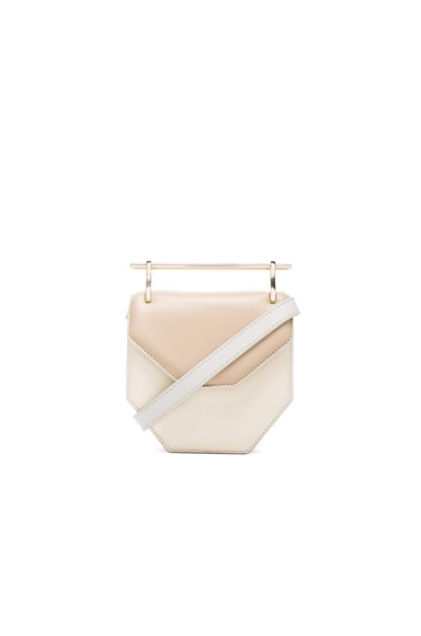 M2Malletier Mini Amor Fati Bag in Sand & Ivory