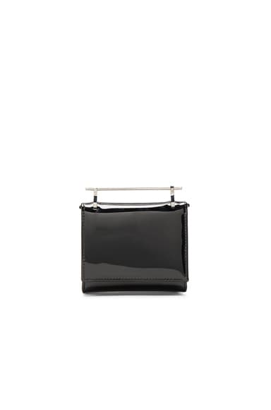 M2Malletier Cabiria Wallet in Black Patent