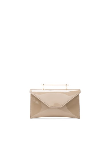 M2Malletier Anabelle Bag in Taupe Patent