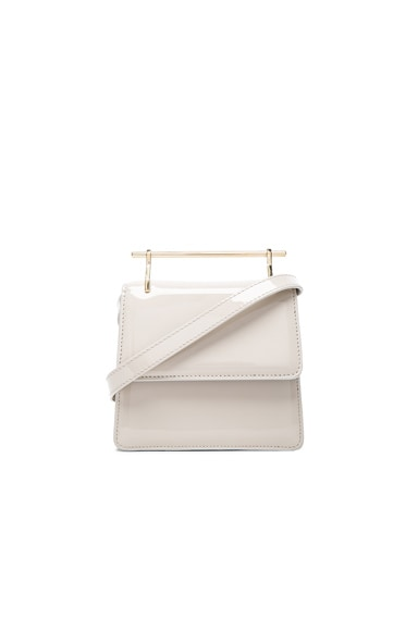 M2Malletier Mini Collectionneuse Bag in Cool Grey Patent