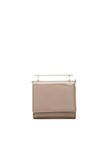 M2Malletier Cabiria Wallet in Taupe Patent