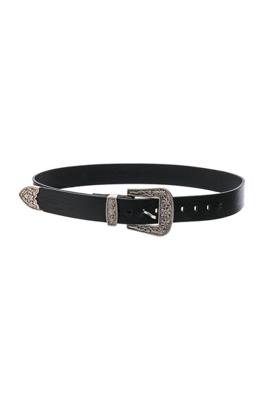 Magda Butrym Belt in Black & Silver
