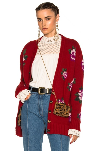 Magda Butrym Rochester Sweater in Red Floral