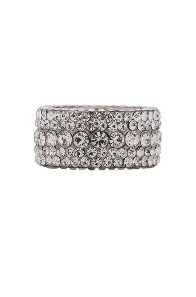 Magda Butrym Large Zirconia Ring in Silver & Zirconia