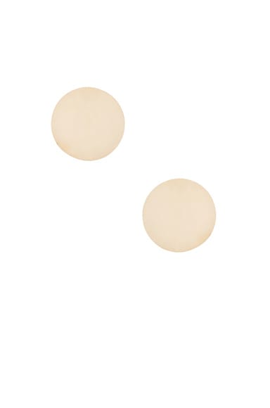 Magda Butrym Medium Round Earrings in Yellow Gold