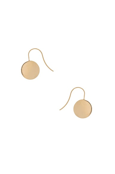 Magda Butrym Thick Small Open Beagle Earrings in Yellow Gold