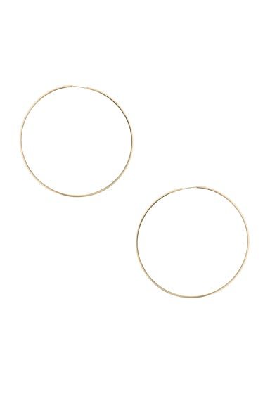 Magda Butrym Large Hoop Earrings in Yellow Gold