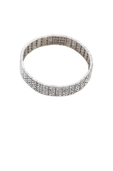 Magda Butrym Zirconia Arm Band in Silver & Zirconia