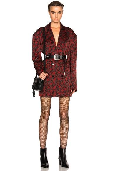 Magda Butrym Cologne Jacket in Black & Red Floral