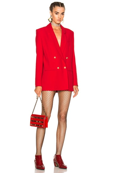 Magda Butrym Michigan Blazer Jacket in Red