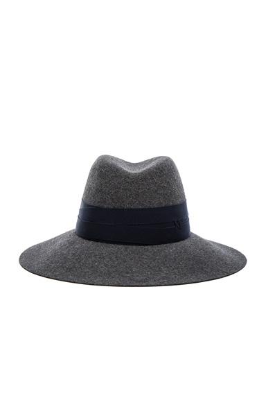 Maison Michel Bandage Fur Felt Kate Hat in Sporty Grey