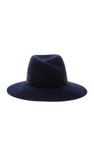 Maison Michel Virginie Felt Hat in Navy