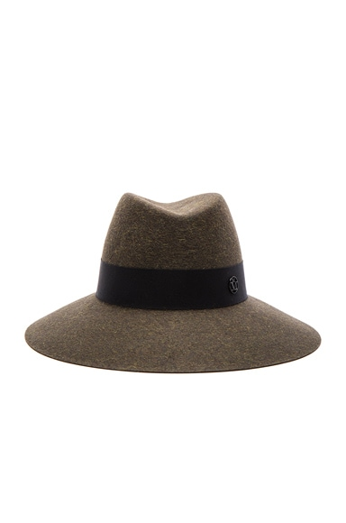 Maison Michel Kate Hat in Military Green