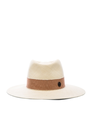 Maison Michel Charles Hat in Natural Beige