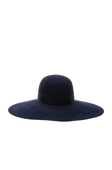 Maison Michel Blanche Hat in Navy