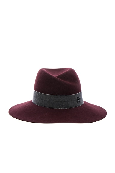 Maison Michel Virginie Hat in Rouge Noir