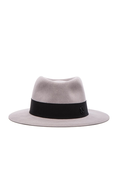 Maison Michel Andre Hat in Pearl Grey