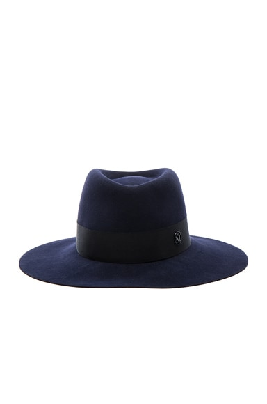 Maison Michel Charles Hat in Navy