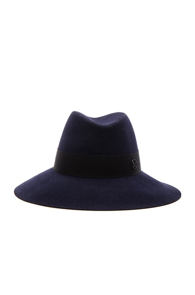Maison Michel Kate Hat in Navy