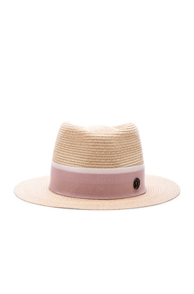 Maison Michel Andre Hat in Natural Rose