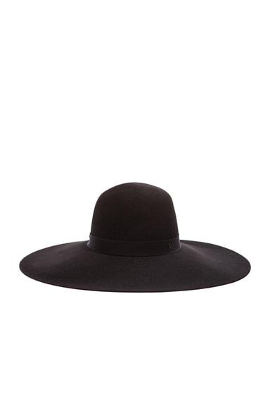 Maison Michel Blanche Classic Capeline Felt Hat in Black