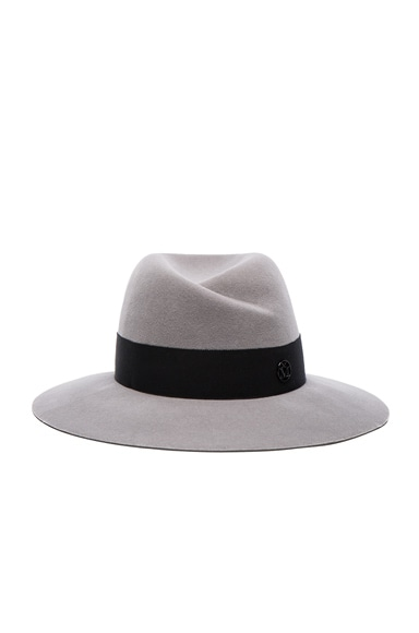 Maison Michel Virginie Hat in Pearl Grey