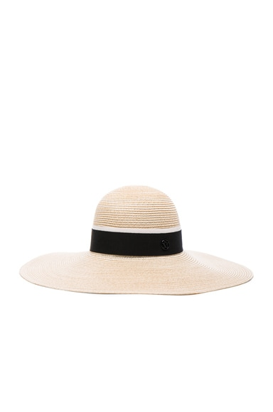 Maison Michel Blanche Hat in Natural Black