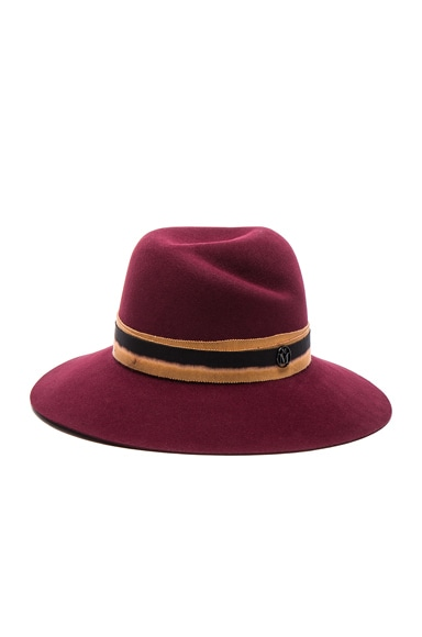 Maison Michel Virginie Hat in Sticky Cherry