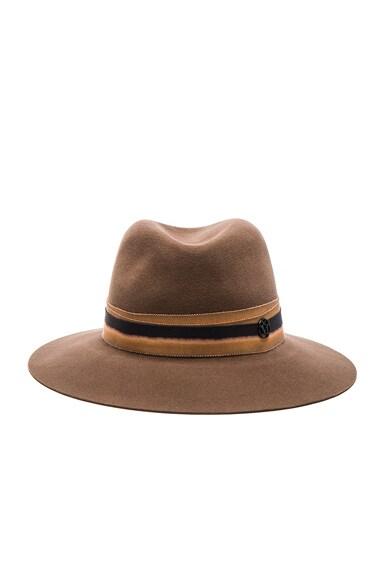 Maison Michel Henrietta Hat in Dusty Beige