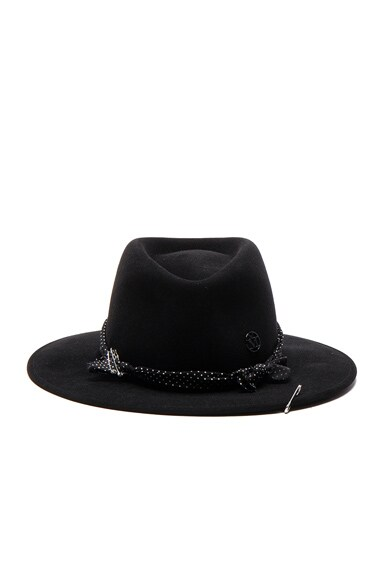 Maison Michel Thadee Hat in Black