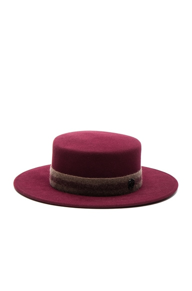 Maison Michel Kiki Hat in Sticky Cherry