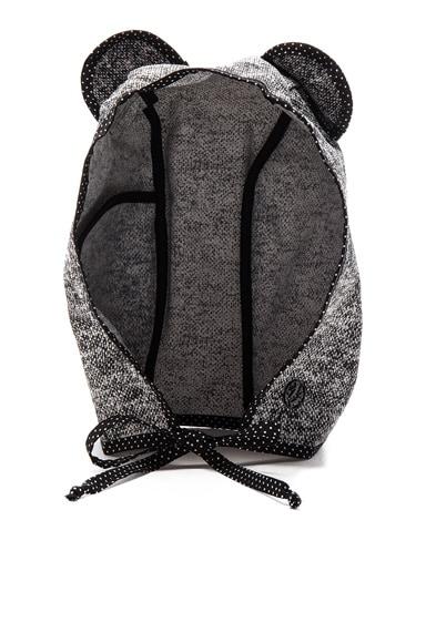 Maison Michel Lara Pocket Hat in Black & White