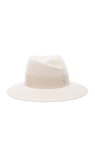 Maison Michel Virginie Hat in White Chalk