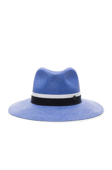 Maison Michel Henrietta Hat in Ghibli Blue