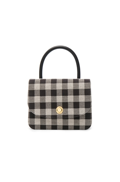 Mansur Gavriel Metropolitan Bag in Black Check