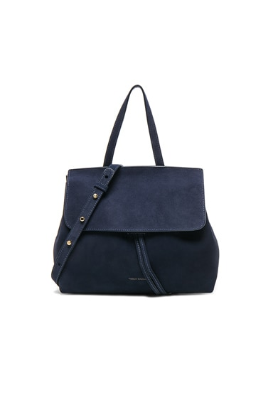 Mansur Gavriel Mini Lady Bag in Blu Suede