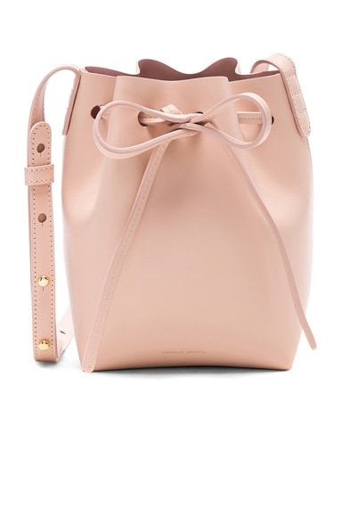 Mansur Gavriel Mini Mini Bucket Bag in Rosa Calf