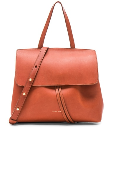 Mansur Gavriel Mini Lady Bag in Brandy Avion