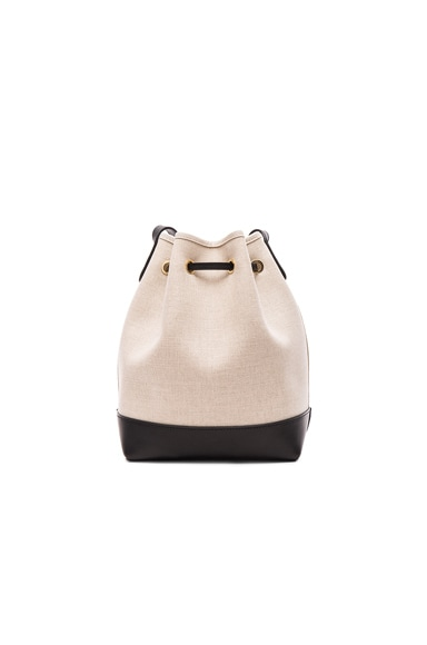 Canvas Mini Bucket Bag