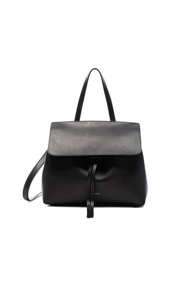 Mansur Gavriel Mini Lady Bag in Black & Dolly