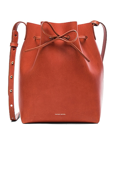 Mansur Gavriel Bucket Bag in Brandy