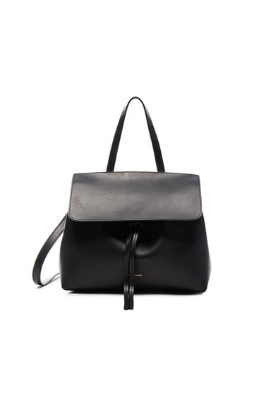 Mansur Gavriel Mini Lady Bag in Black & Silver