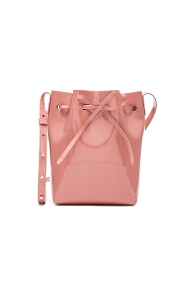 Mansur Gavriel Mini Bucket in Blush Patent